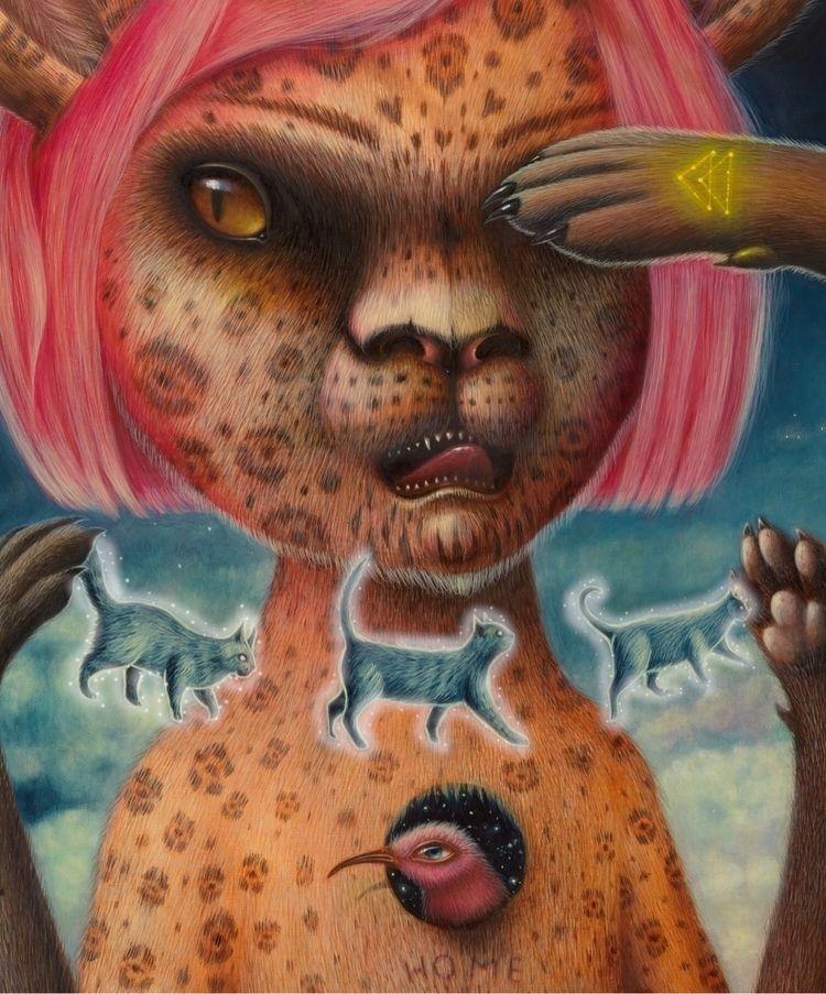 LA , painting Nahual present bo - peca-art | ello