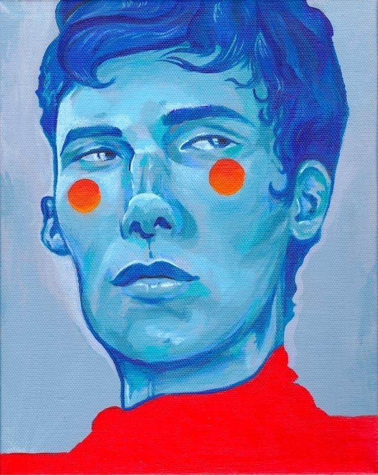 """Blue Boy"" 8"" 10"" acrylic canva - marscreeps | ello"
