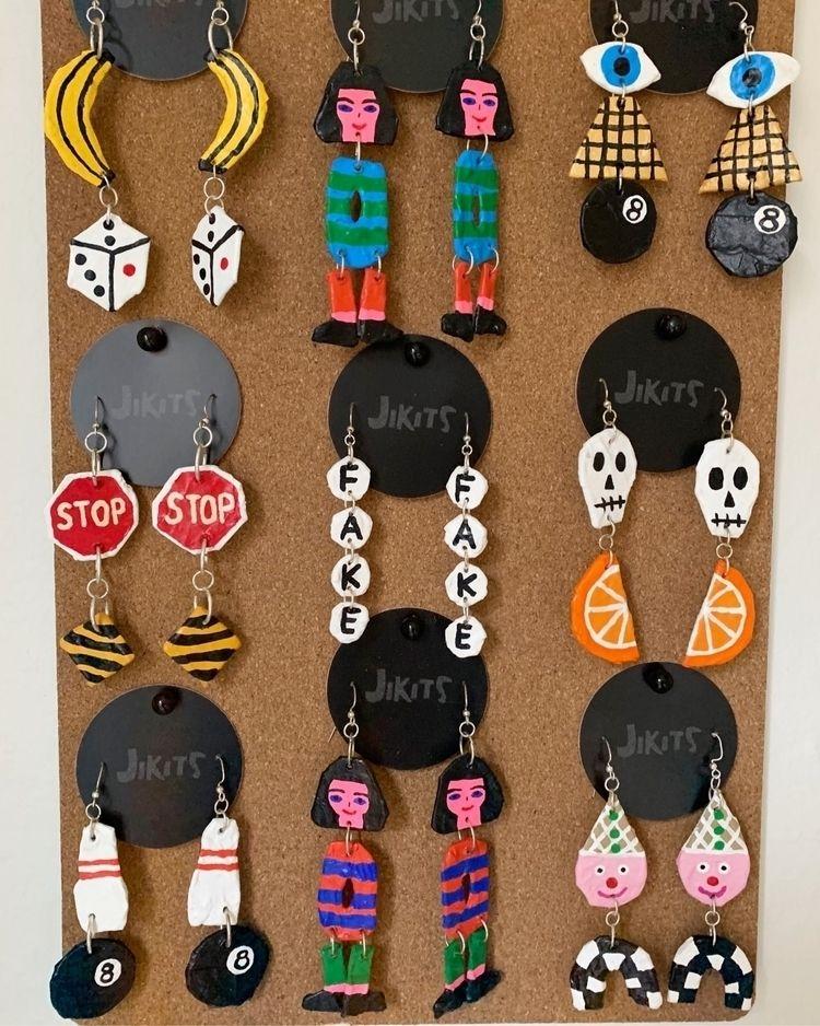 Papier Mache earrings - jikits | ello
