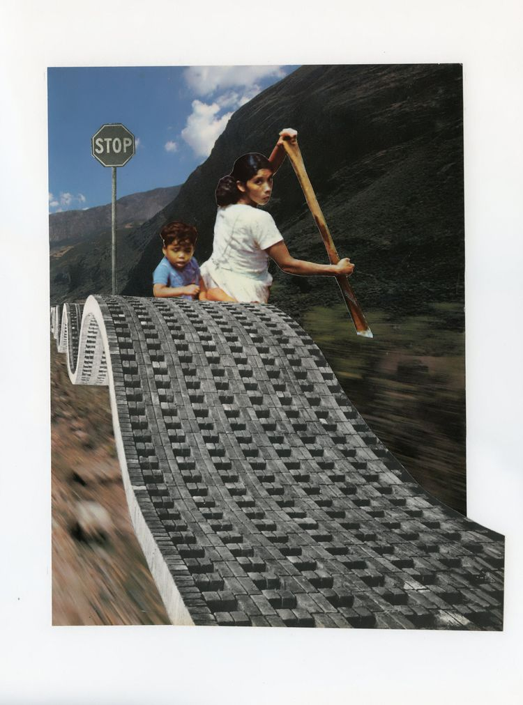 Collage Bep Broos - art#collage#analogcollage#wave#rowingboat#boatmigrants - bepbroos | ello