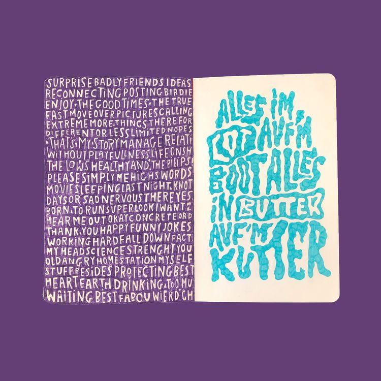 purple page - typography - vaniagettkant   ello