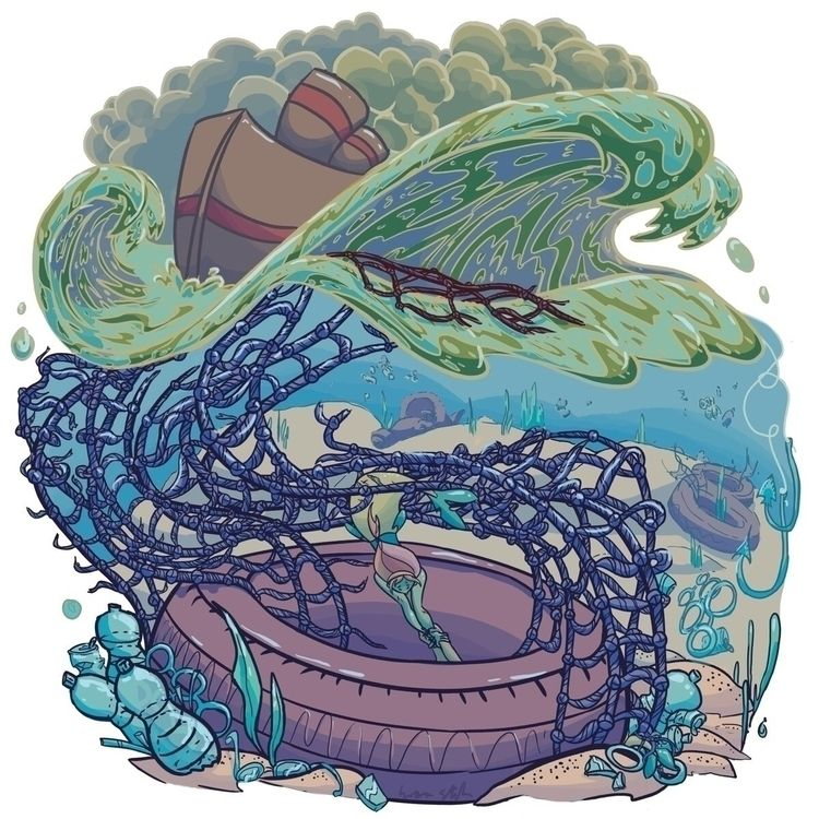 Mermaids survive current enviro - iva_the_dragon | ello