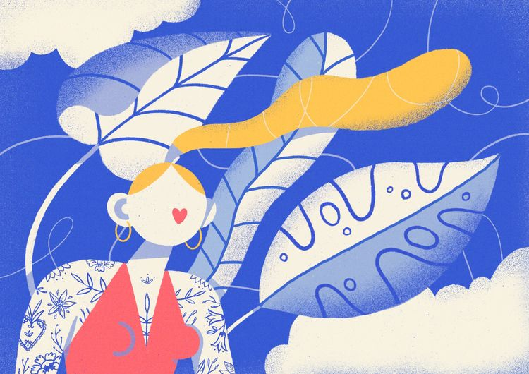 wind Personal illustration sile - sylvissxi | ello
