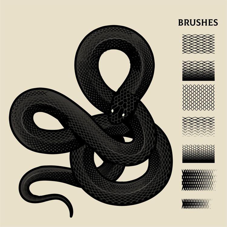 Snake Brushes - podridosarmy, vectorart - manuelcetina   ello