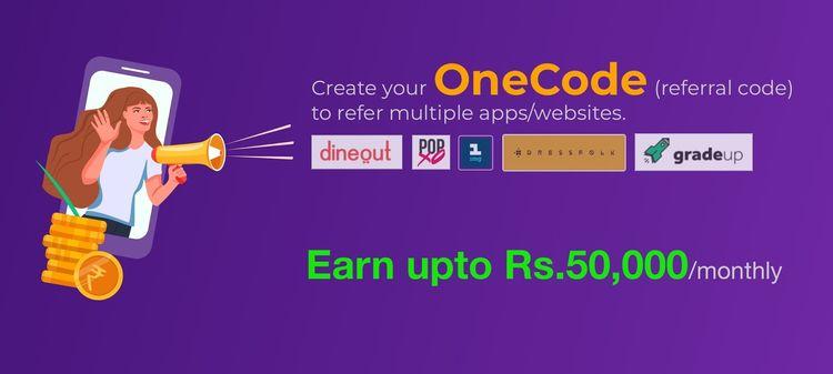 OneCode Referral Code: Save Rs - freebiesloot | ello