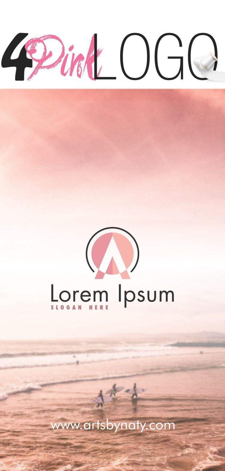 Pink modern logo set - pink, pinklogo - artsbynaty | ello