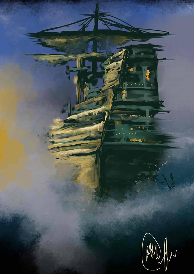 Flying Dutchman - Illustration  - anne15 | ello