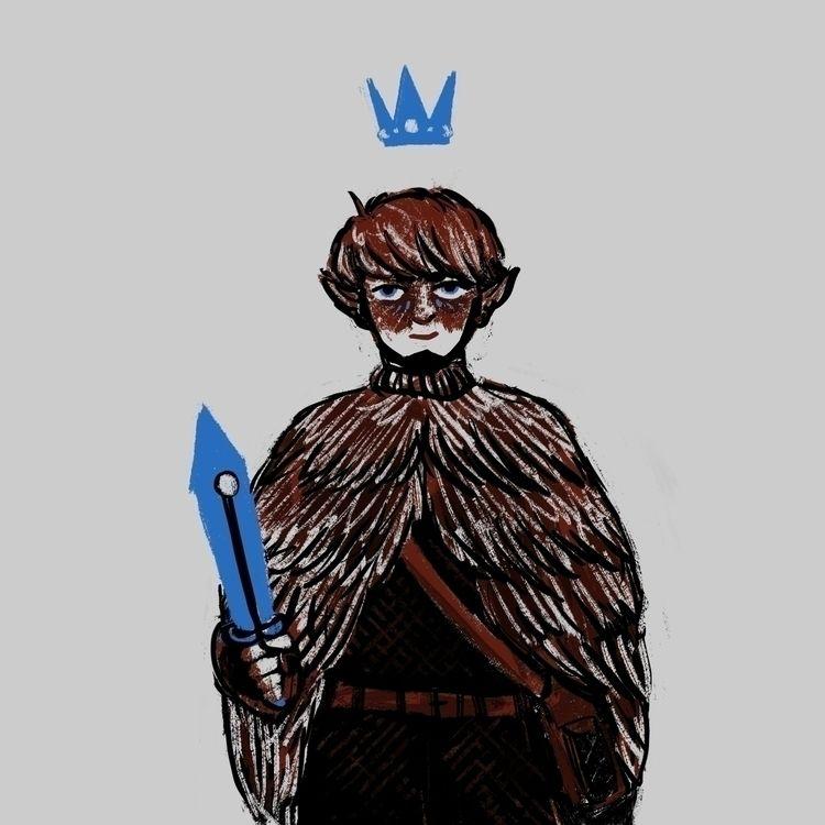 Hexblade warlock - digital, illustration - morrowingsart | ello