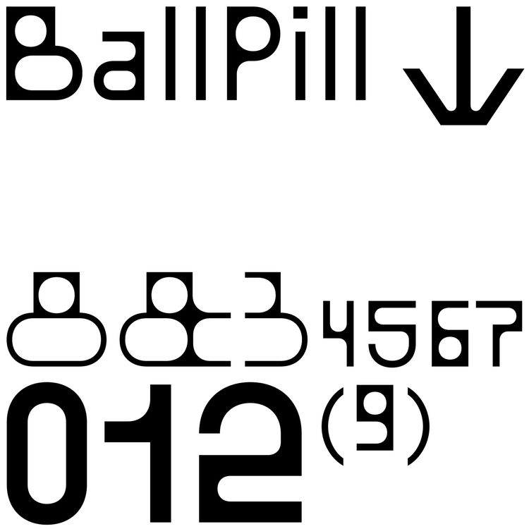 type! ! BallPill - typedesign, typography - bb-bureau   ello