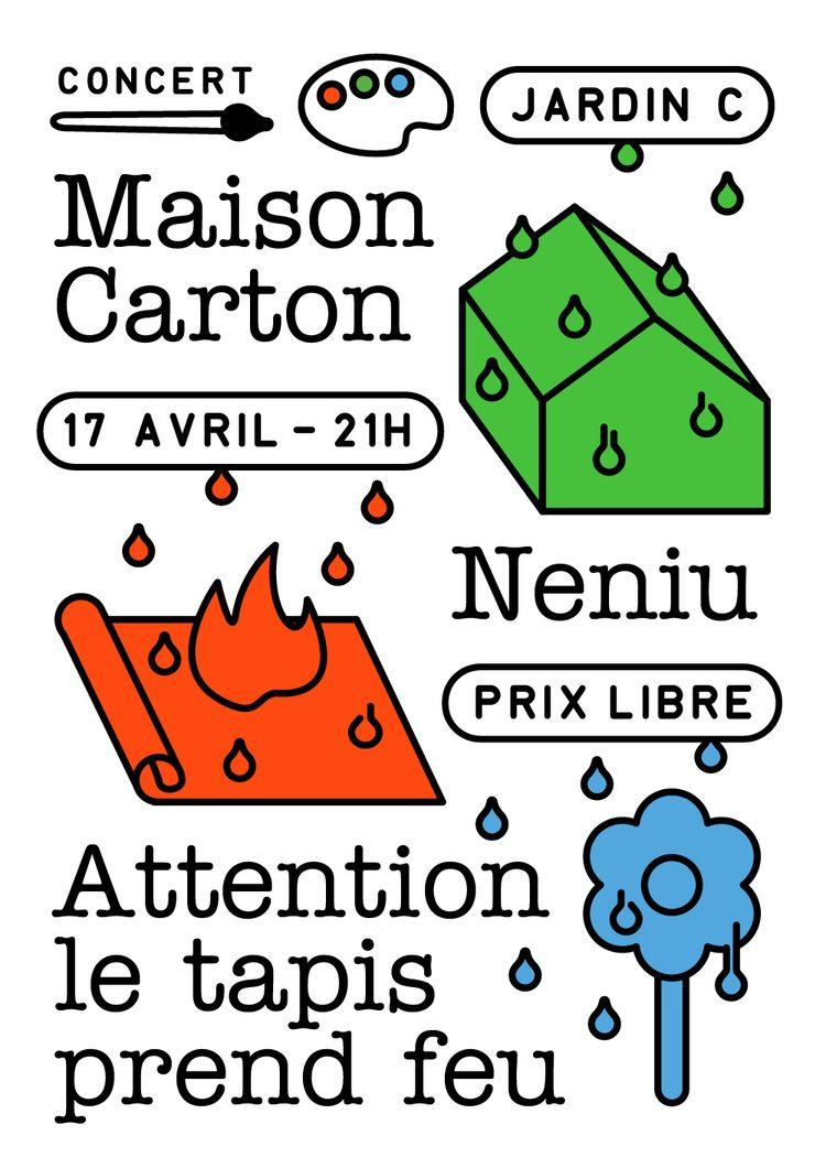 Maison Carton + Neniu Attention - molonom   ello