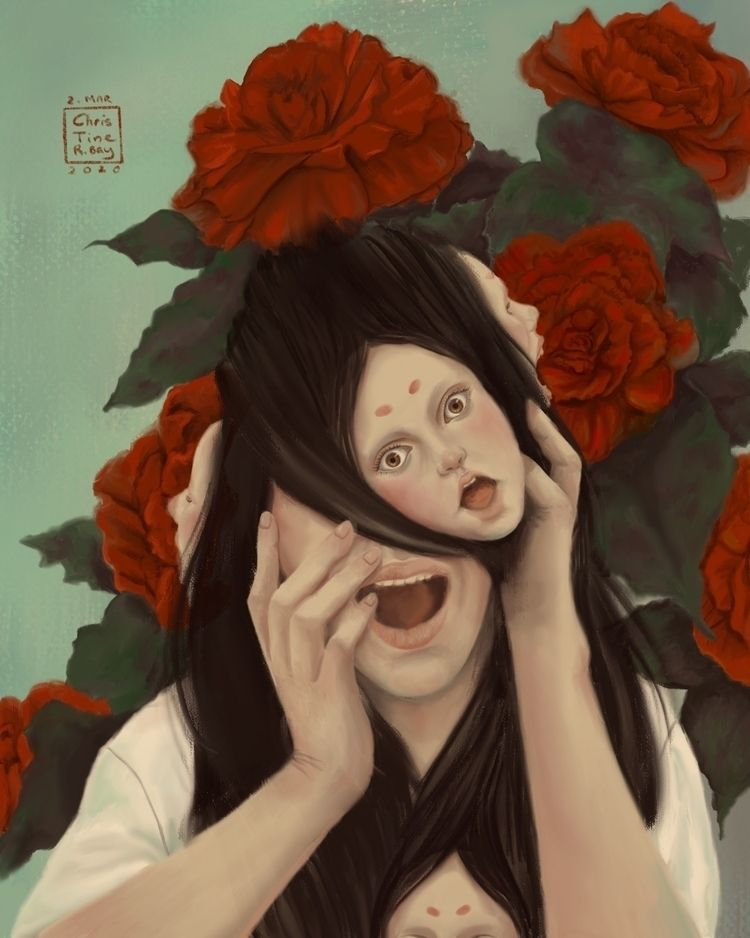 Begonia Dreams, digital submiss - christinerbay | ello