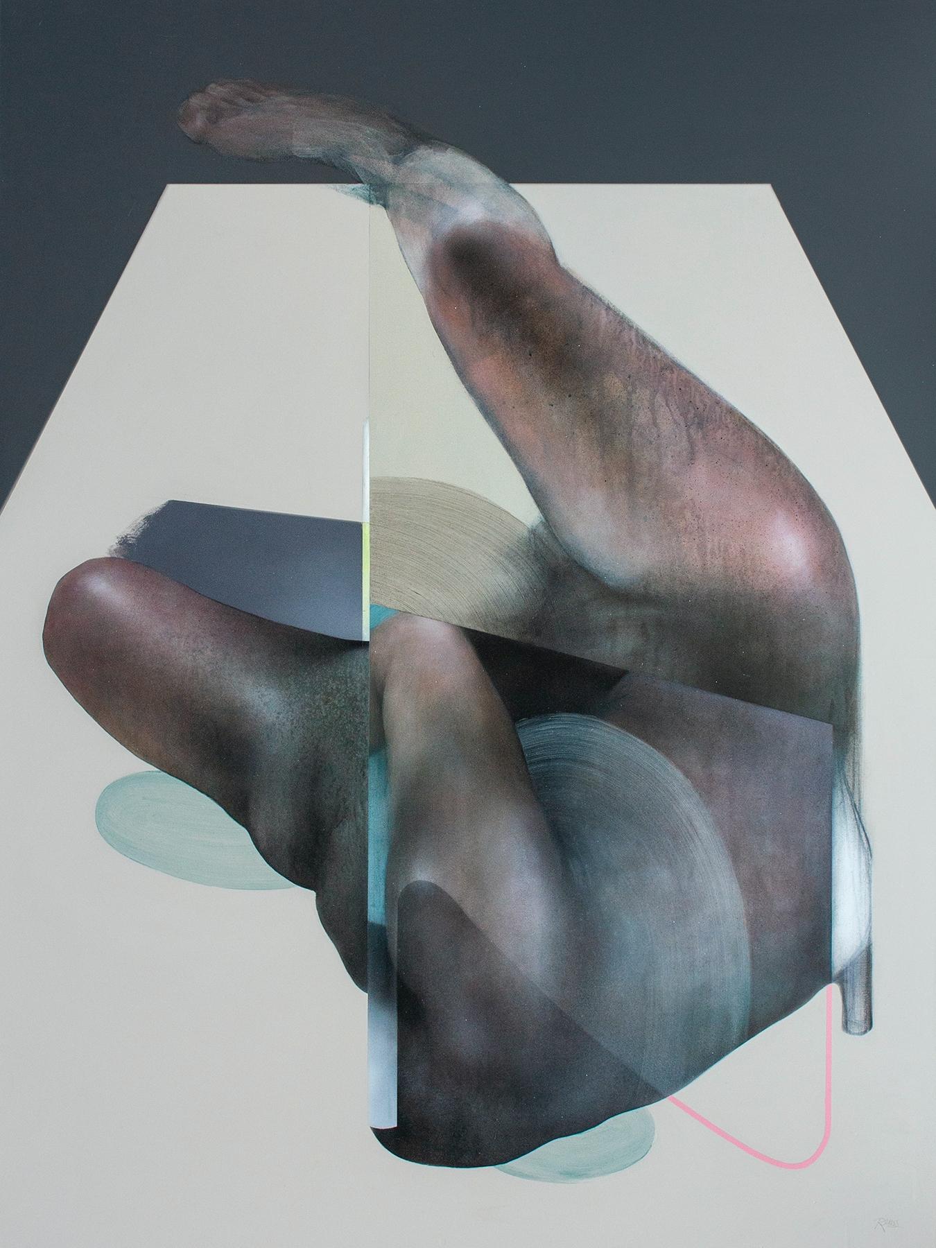 Sickbed 120x90cm, acrylics char - reuss | ello