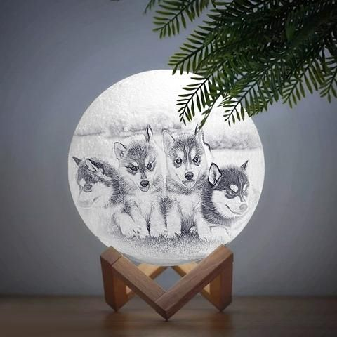 Custom Photo Moon Lamp, 3D Prin - photomoonlamp | ello