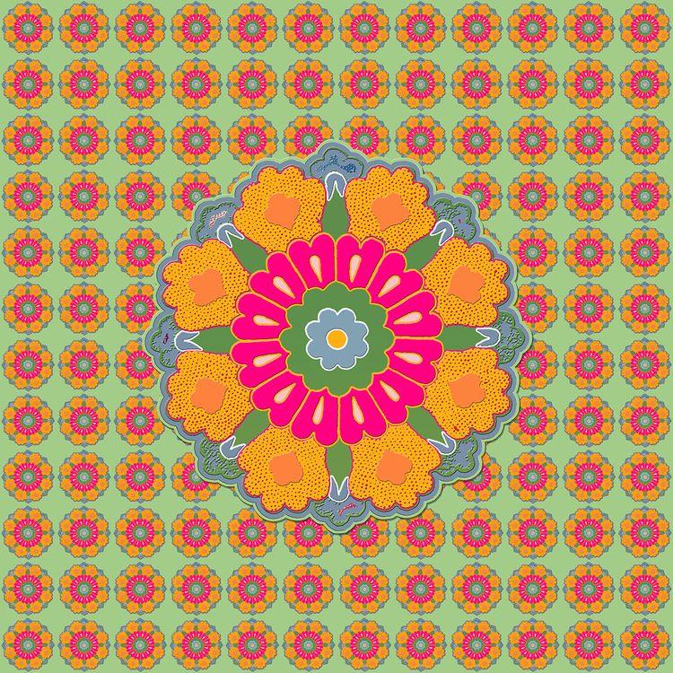 PERSIAN FLOWERS PATTERN 13 - zuzugraphics   ello