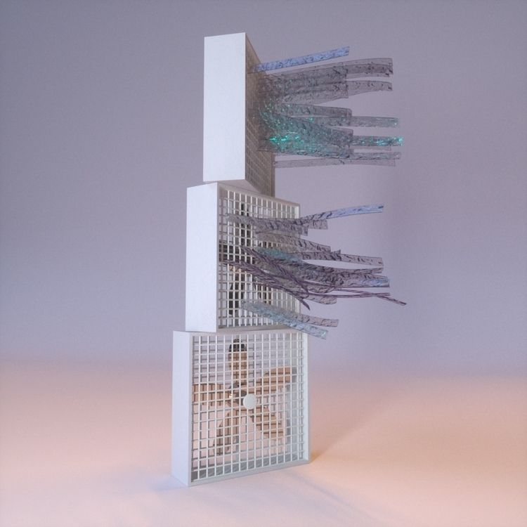 fanning hot day rendering 3D le - slow_studies | ello