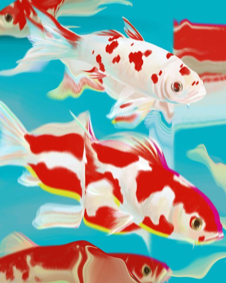 'Goldfish' / abstractive - goldfish - eunjeongyoo | ello