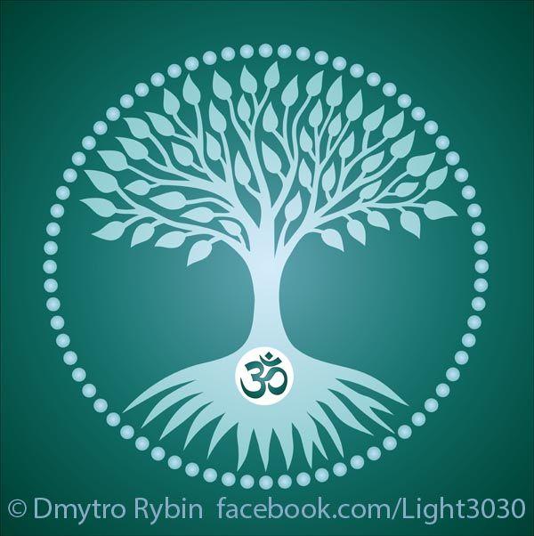 Tree life aum / om - tree, circle - dmytroua | ello