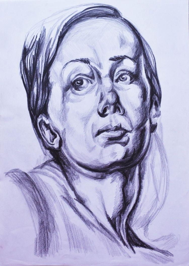 Portrait study woman - Pencil - amber_seychell | ello