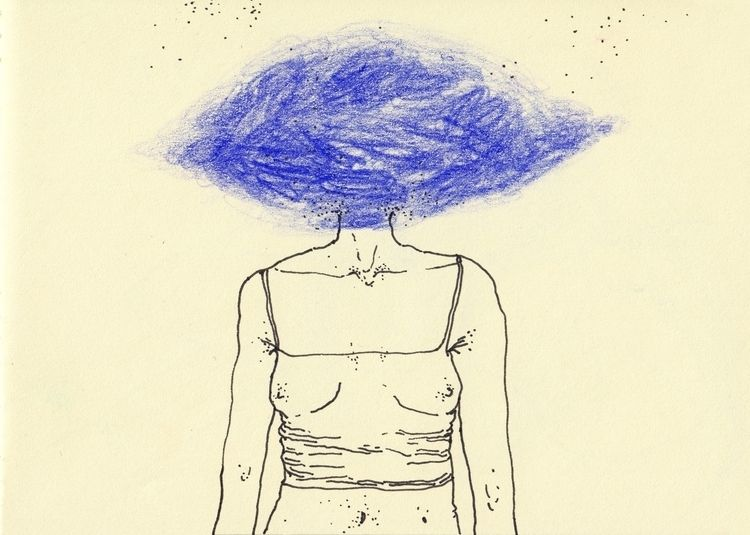 Head clouds, 2017 - art, drawing - iby | ello