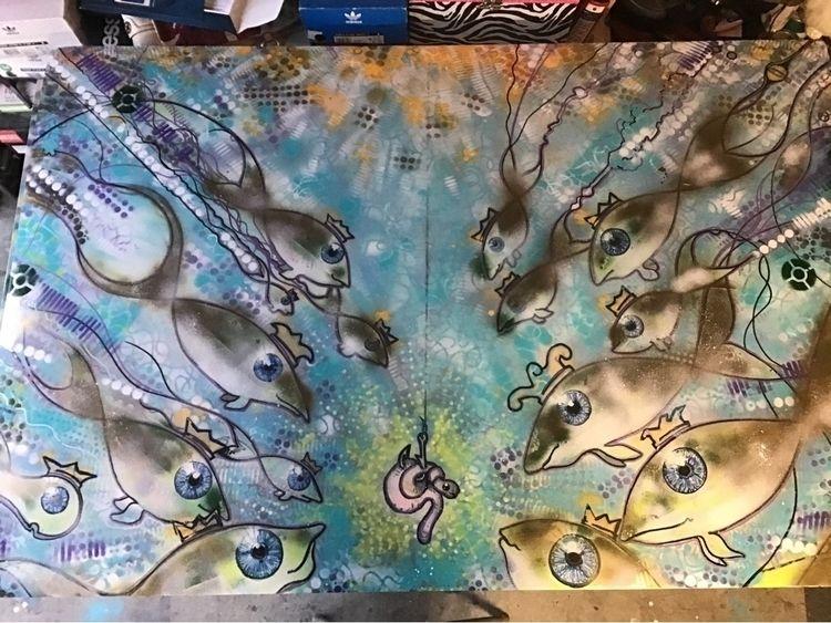 King Fish hook work progress - jafodesigns | ello