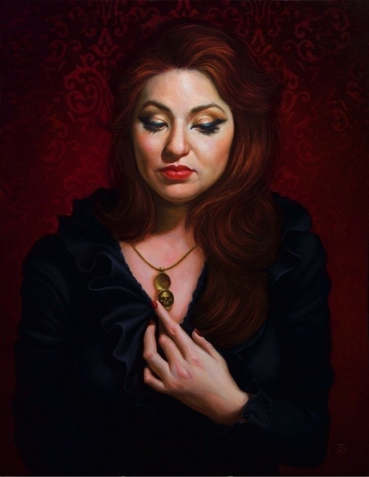 Omnia Vanitas - Portrait Oil Pa - briannaleefineart | ello