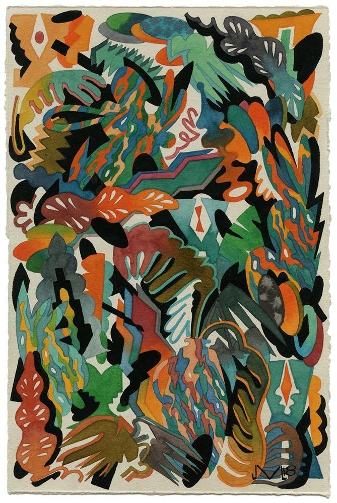 Hibiscus Watercolor gouache pap - jacobvanloon | ello