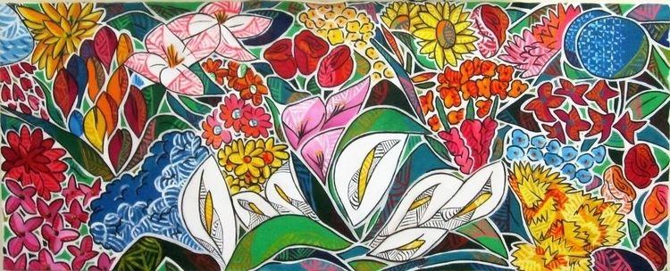Garden Acrylic canvas 160x75cm  - gilaporta | ello