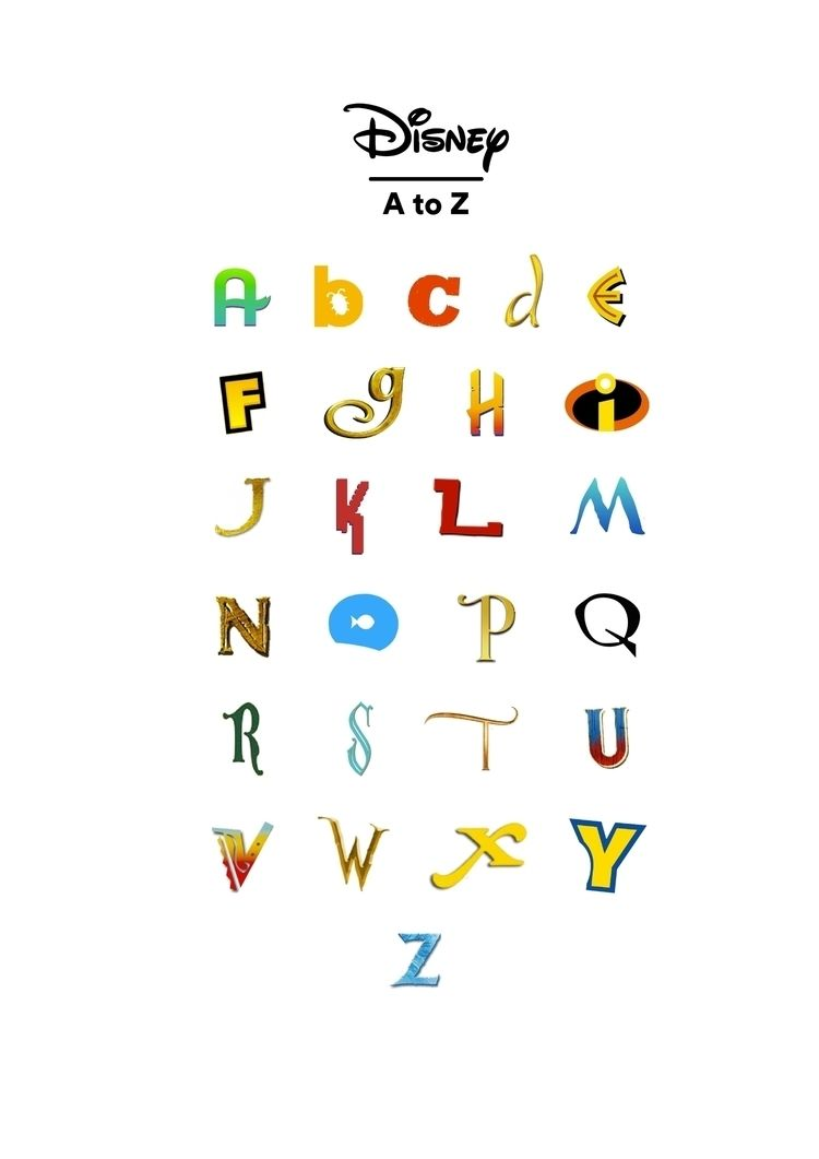 Disney - Alphabet, AtoZ, Type, Icon - saprila | ello