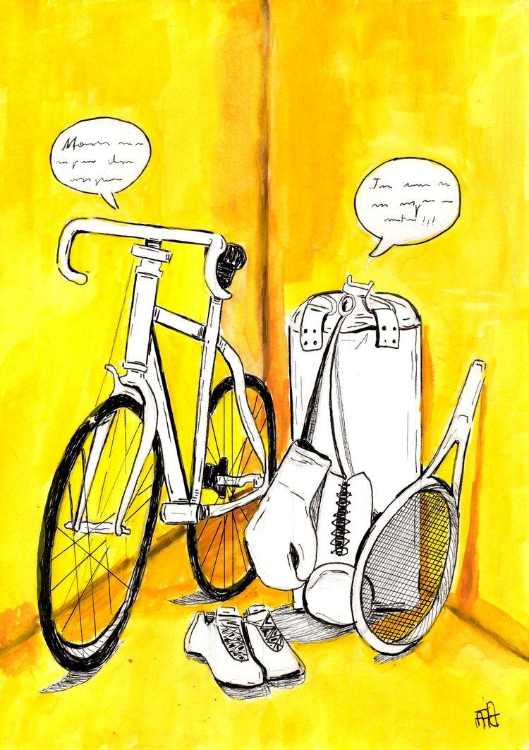 illustration, yellow, elloart - nataliadamiao   ello