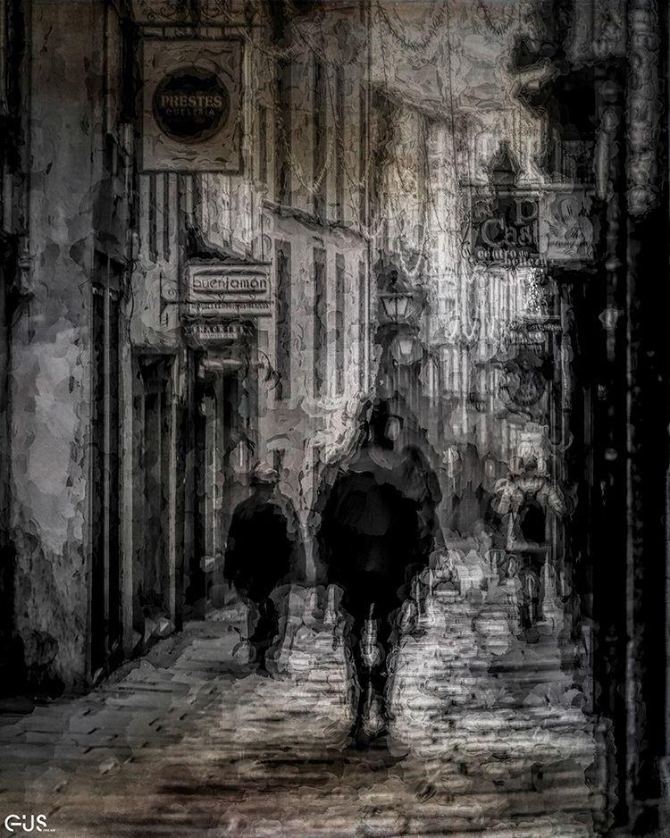 Walkers Streets Santiago de Com - gusfineart   ello
