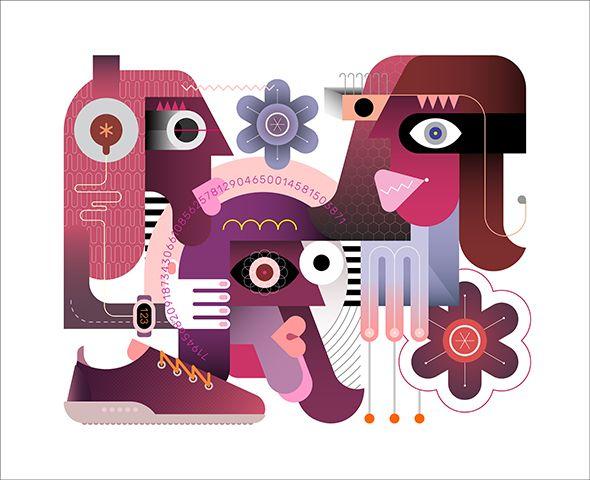 People vector illustration - color - danjazzia   ello
