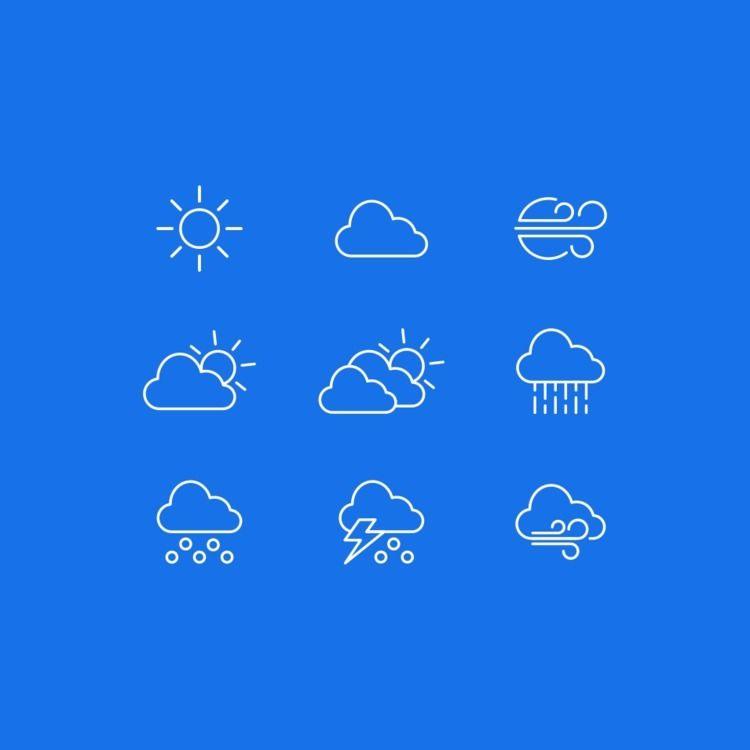 Weather Icons part job studio.  - lucho-mndz | ello
