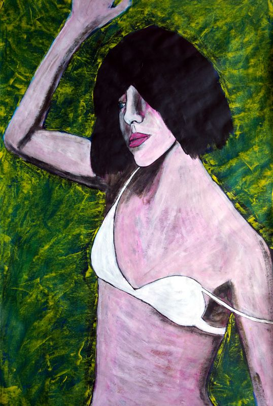 French Girl 2020, acrylic paper - artchrisdale | ello