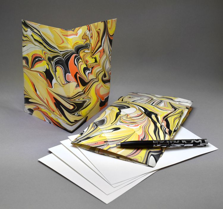 4 pack hand marbled blank 5 7 A - jcmarbling   ello