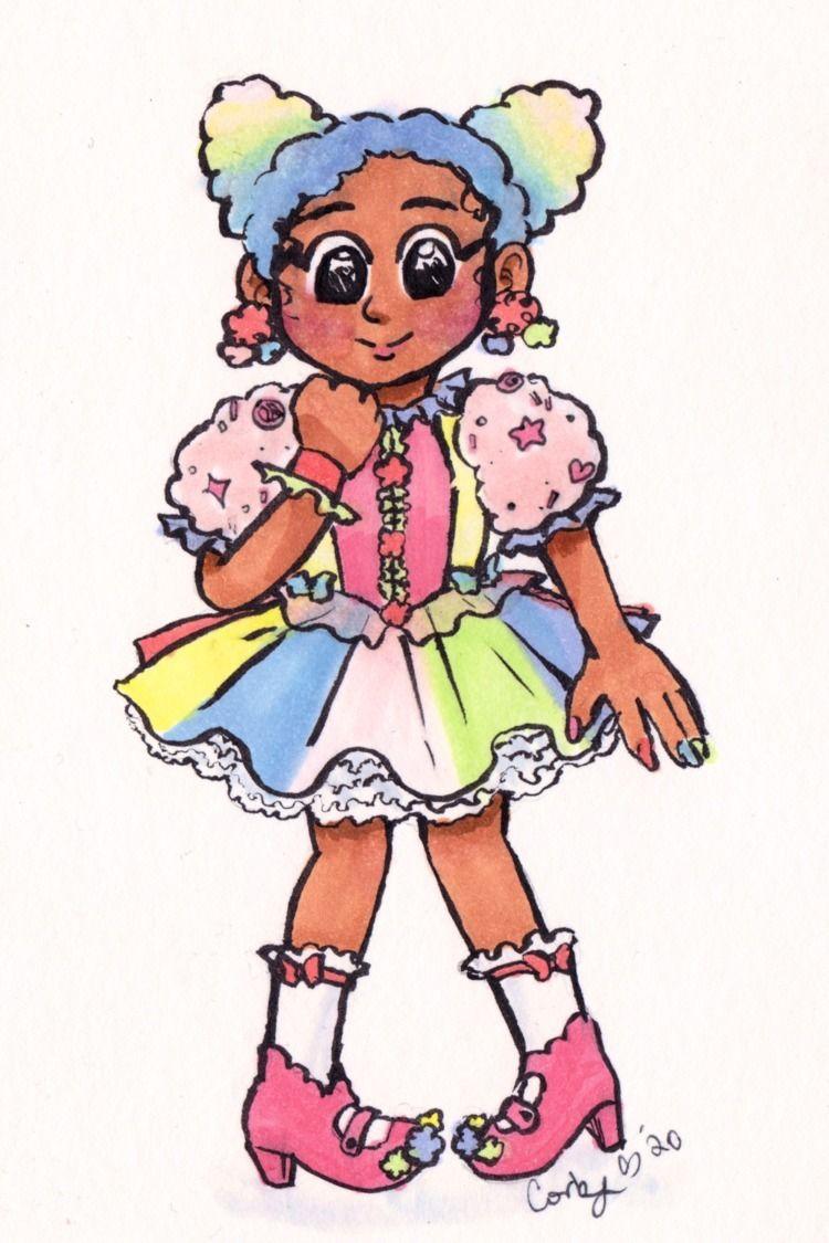 cotton candy girl - coobcakes | ello