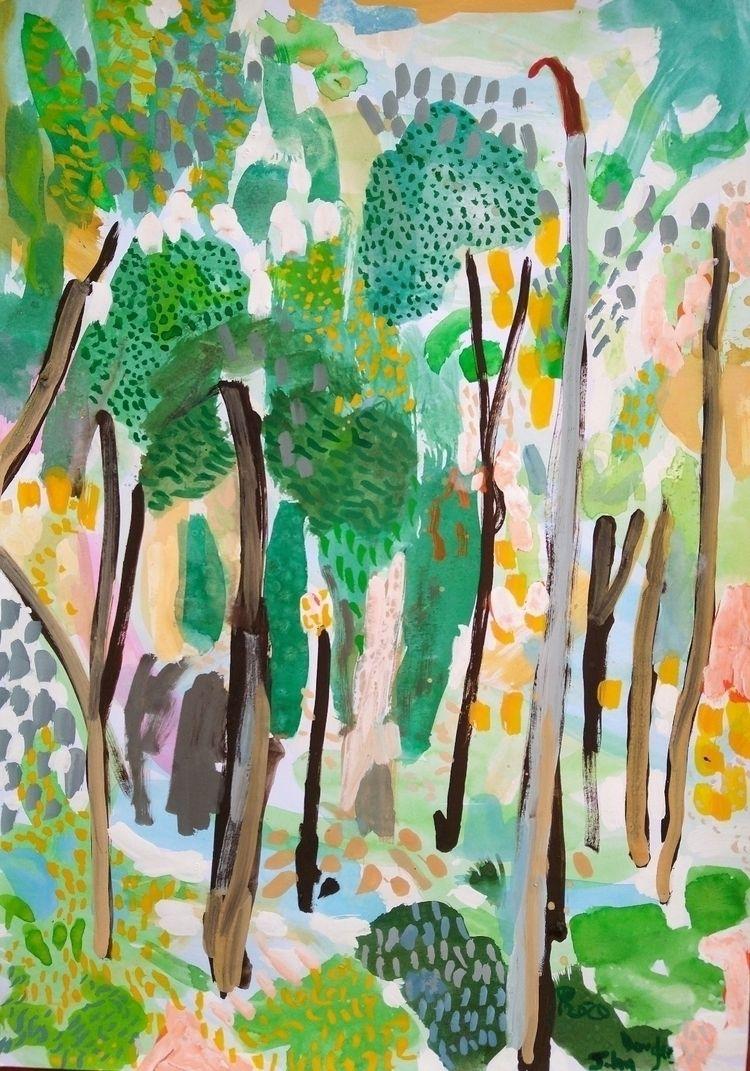 Grove gouache paper - art, artist - johndouglasart   ello