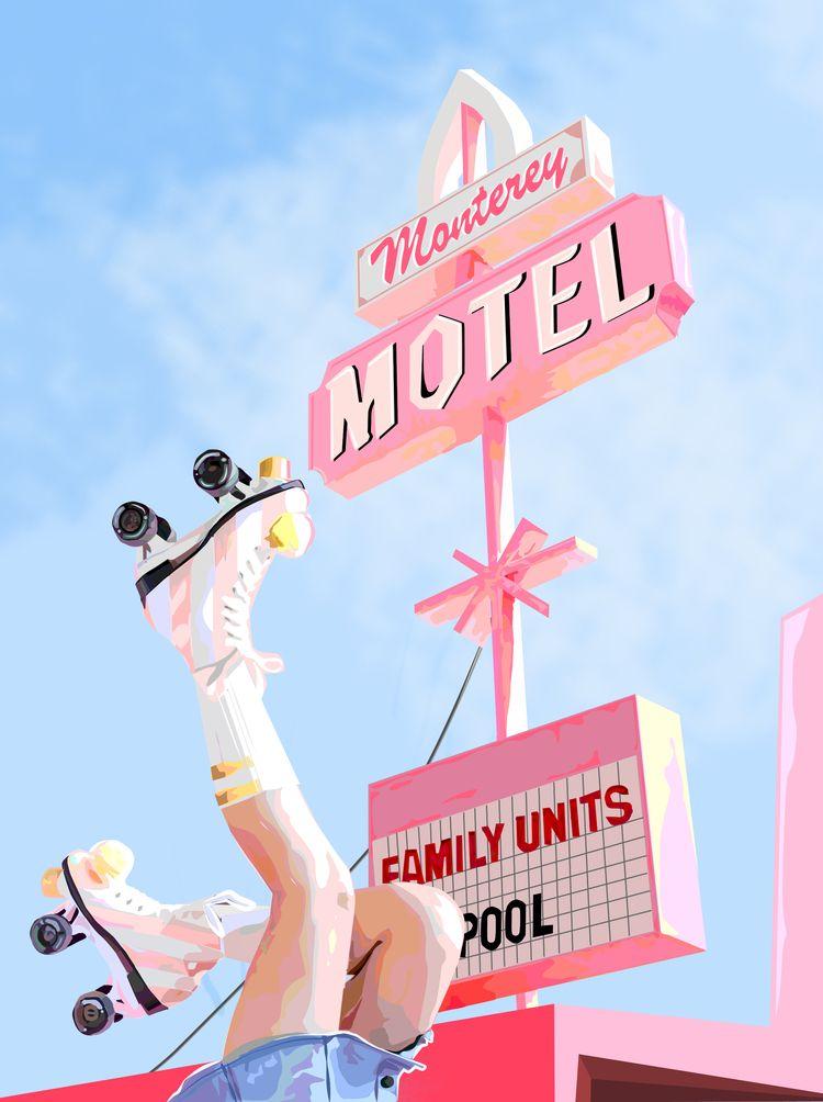 //Monterey rollers motel: trip  - raquelgaliano | ello