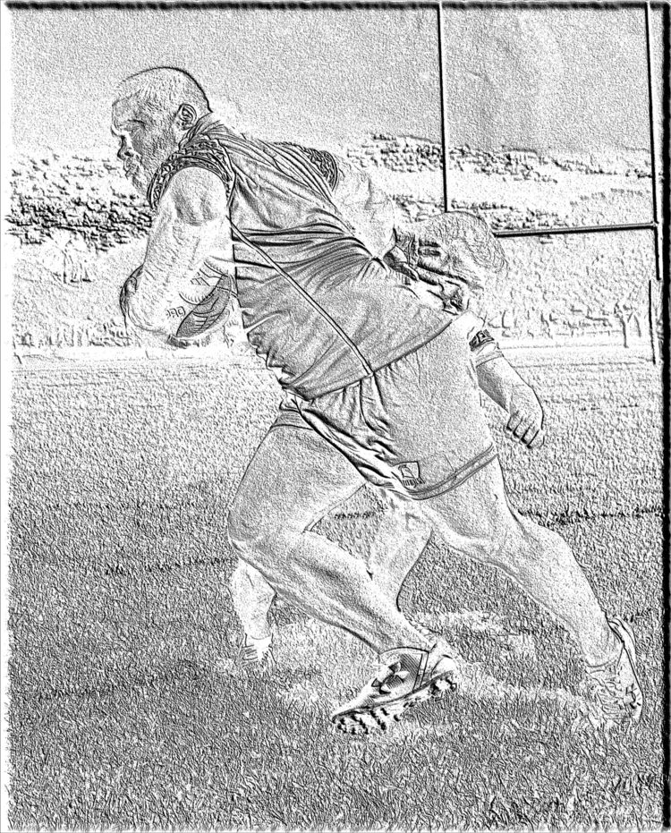 Rugby Player attempt sketch. ha - projexart | ello