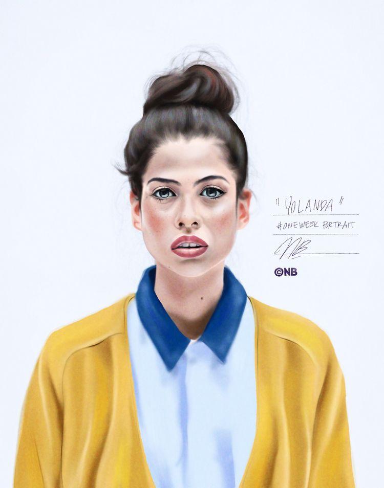 Drew portrait - illustration, stayhome - nik__brovkin   ello