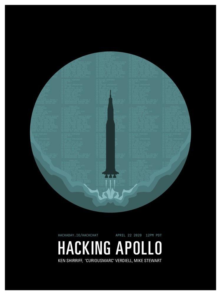 Hacking Apollo HackChat - poster - randomwalks | ello