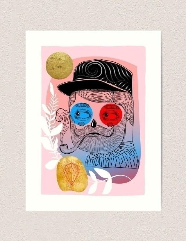 Beard Smoke ~ Extralarge artpri - trinkl | ello