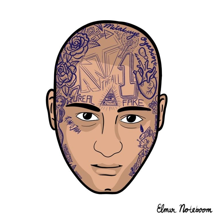 portrait 8 Elmar tattooed - selfportrait - elmarnoteboom | ello