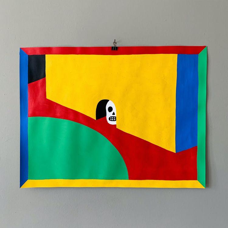 Quarantine Color. Acrylic paper - grossillustration | ello