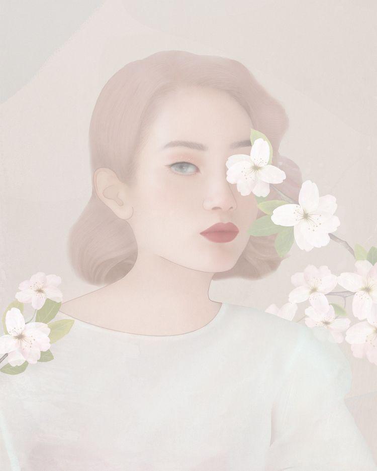 asian, portrait, pastel, digital - chertovskaya | ello