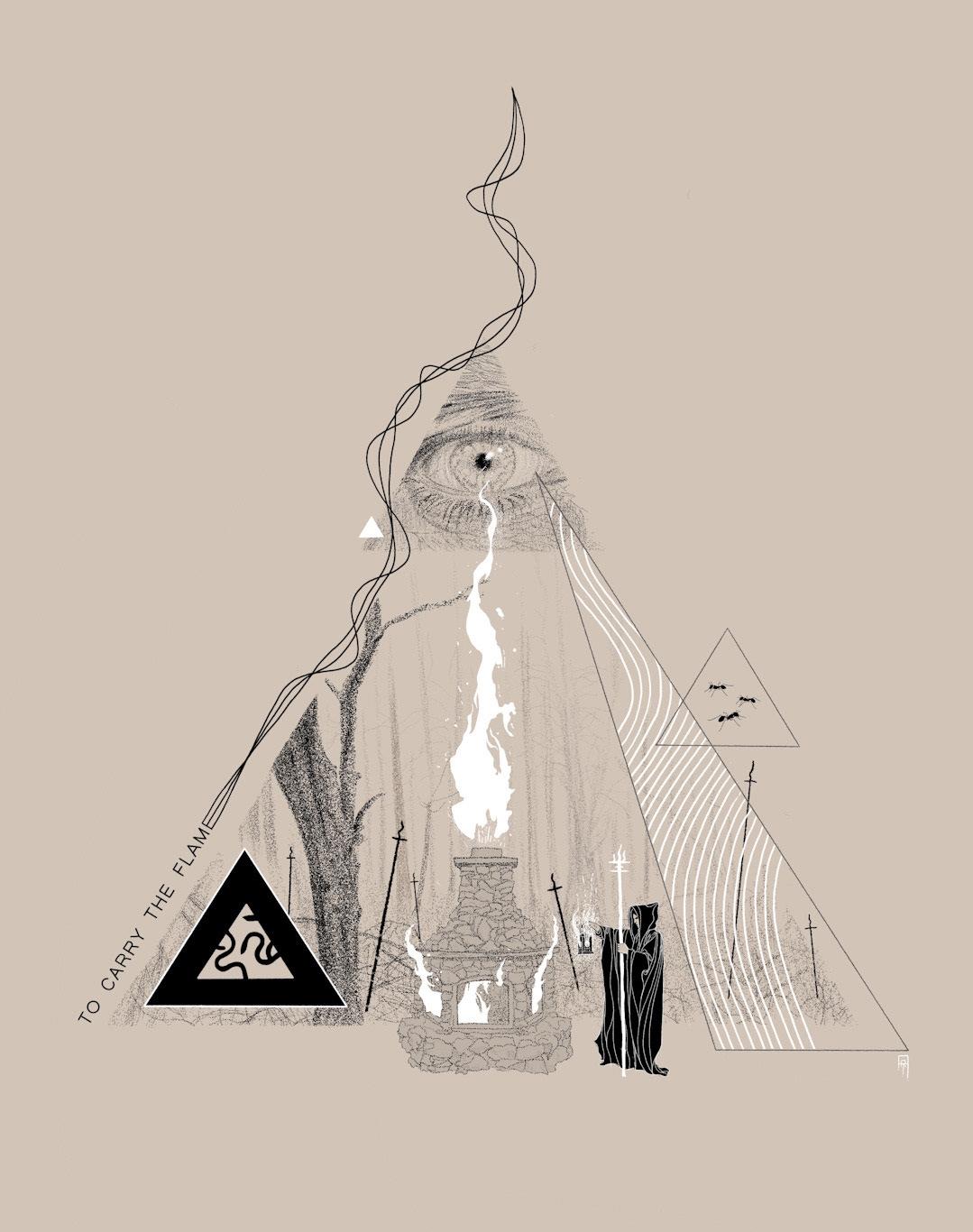 Carry Flame - Beltane, pagan, paganism - adamrobertmartin | ello