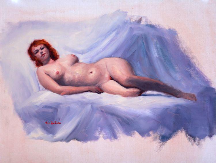 Hannah, oil 35cm 45cm painted l - vickisullivanart | ello