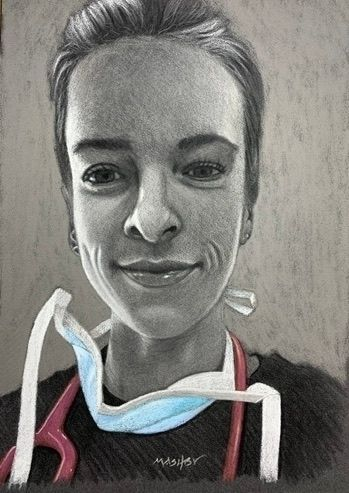 'NHS Frontline worker Amber' -  - micheleashby | ello