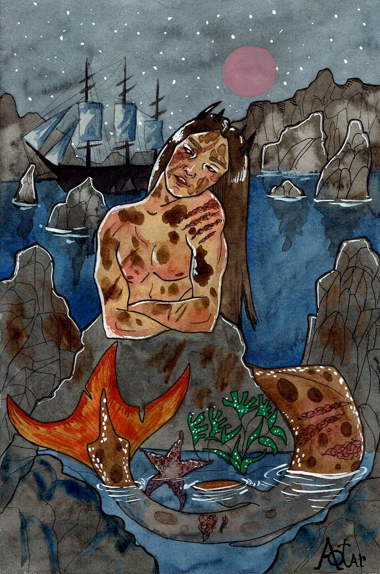 Siren song Mermay 2020 - aotarcrookedmoon | ello