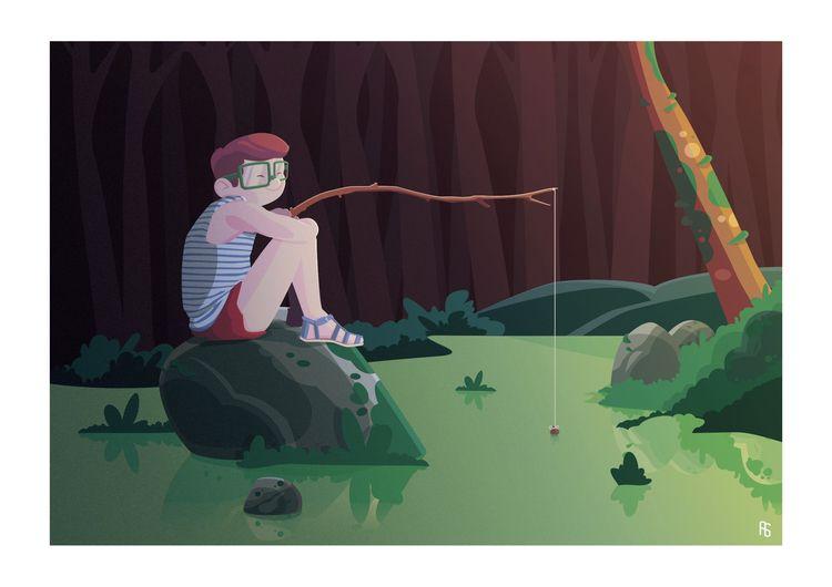 CHILDHOOD - FISHING Based child - aureliensoula | ello