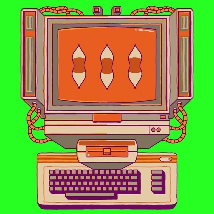 Commodore 64 1984 - illo, illustration - davidebartsalvemini | ello